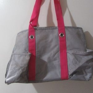 Thirty One Organizing Utility Tote in Pinstripe